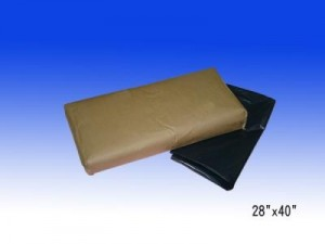 PE厚料24X36黑色垃圾袋 100個
