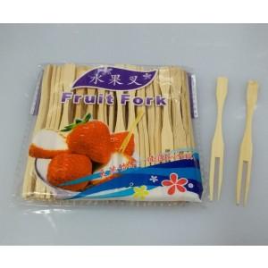 ( 竹製 )  水果叉 每包50支