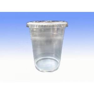 16安士透明膠杯連蓋 100隻