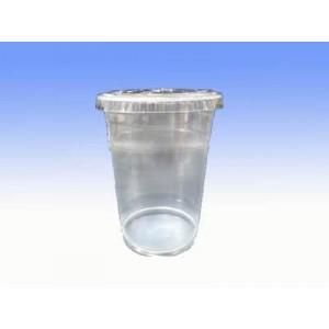 12安士透明膠杯連蓋 100隻